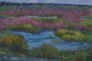 Wetlands 4, 2018, oil paint on canvas, 24 x 36 inches