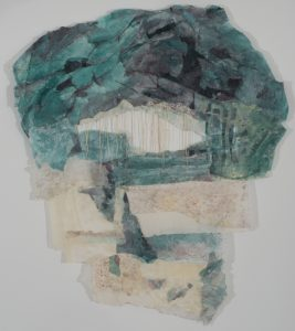 Remembering 7, mixed media, 90 x 60 in